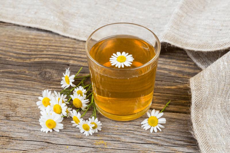 Chamomile flower and Chamomile Tea