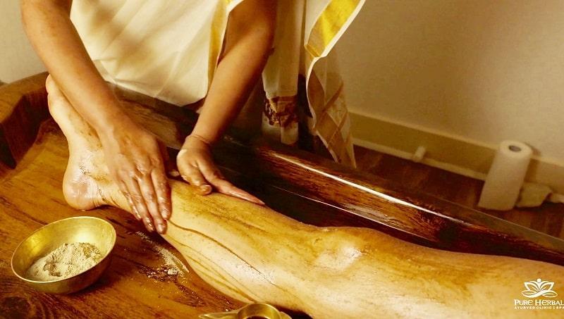 Udvartana massage